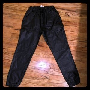 Calvin Klein Vegan Leather Joggers